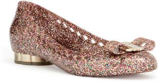 Salvatore Ferragamo Jelly multi color glitter rubber ballerinas