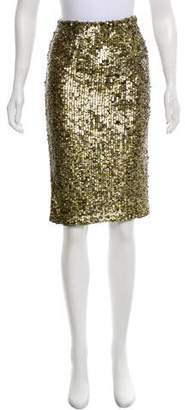 Alice + Olivia Sequin Pencil Skirt