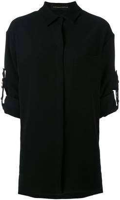 Alexandre Vauthier studded straps shirt