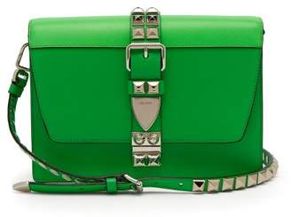 Prada Elektra Leather Cross Body Bag - Womens - Green