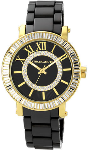 Vince Camuto Ladies' Two-Tone Crystal-Embellished Watch