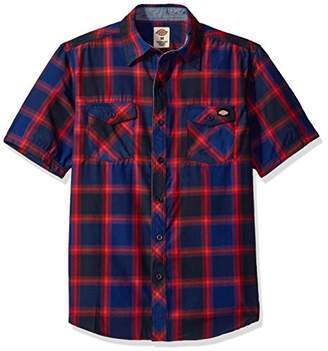 Dickies Men's Regular Fit Short Sleeve Fashion Pocket Plaid Shirt