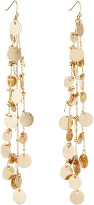 Lydell NYC Chain-Disc Linear Earrings