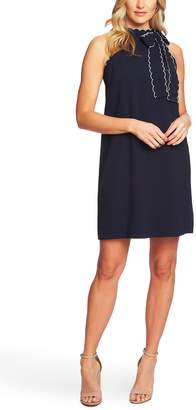 CeCe Sleeveless Tie Neck Shift Dress