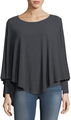 P. Luca Long-Sleeve Poncho Top