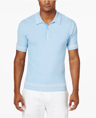 Sean John Men's Tweed Sweater Polo, Only at Macy's $74.50 thestylecure.com