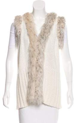 Rachel Zoe Faux Fur-Trimmed Wool-Blend Vest