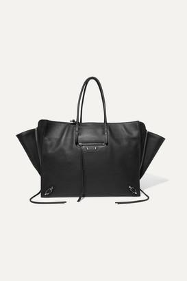 Balenciaga Paper Za A4 Textured-leather Tote - Black