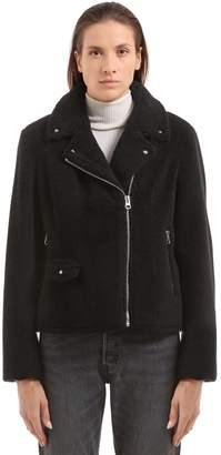 Della Teddy Faux Fur Biker Jacket