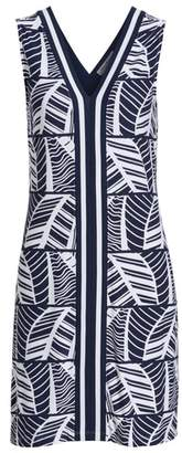 Tommy Bahama Palm Leaf Stripe Sleeveless Shift Dress