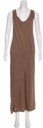 Brunello Cucinelli Sleeveless Scoop Neck Maxi Dress