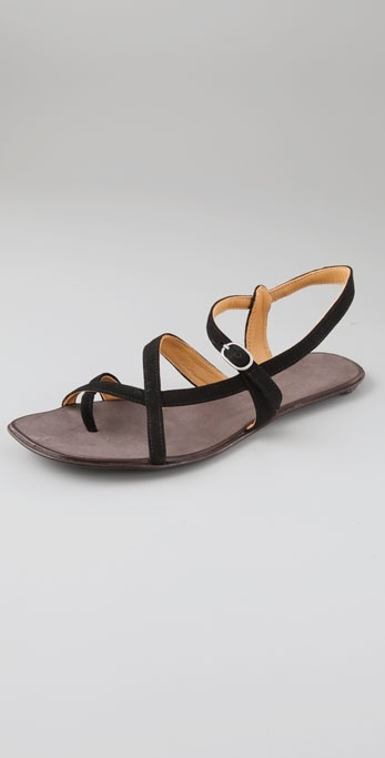 Coclico Shoes Tracer Suede Sandals with Toe Ring