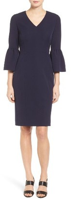 Women's Emerson Rose Bell Sleeve Sheath Dress $169 thestylecure.com