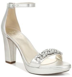 d181c0789 Silver Ankle Strap Platform Heels - ShopStyle Australia