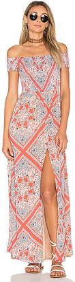 Tularosa Henderson Maxi Dress in Orange $218 thestylecure.com