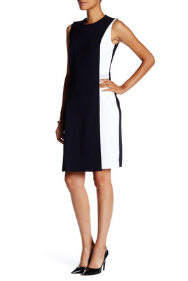 BOSS HUGO BOSS Halani Sleeveless Colorblock Dress $575 thestylecure.com