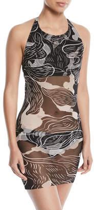 Fuzzi Wave-Print Two-Piece Tankini Swimsuit Set