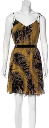 Halston Printed Mini Dress