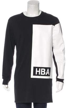 Hood by Air Color-Blocked Logo Print Sweatshirt