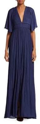 Halston Flowy Pleated Gown