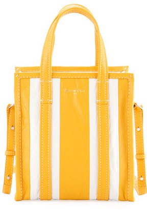 Balenciaga Bazar Striped Extra-Small Shopper Tote Bag $1,395 thestylecure.com
