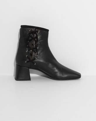 Suzanne Rae Black Nappa Leather Lady Boots