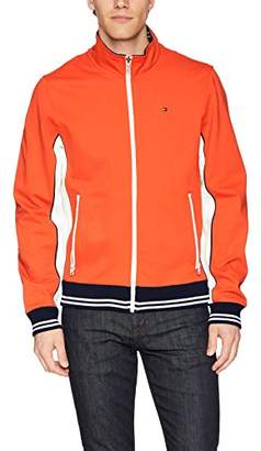 Tommy Hilfiger Men's Stand Collar Retro Colorblock Track Jacket