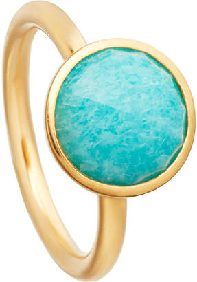 Astley Clarke Stilla 18ct yellow-gold plated amazonite ring