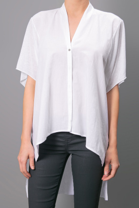 Helmut Lang Square Top White