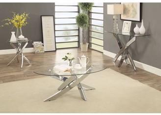 Furniture of America Gisela Contemporary Sofa Table, Chrome