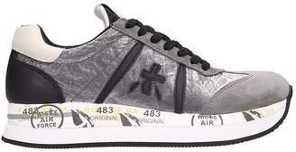 Premiata Conny Grey Suede Sneakers
