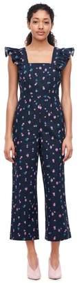 Rebecca Taylor Farren Flower Linen Jumpsuit