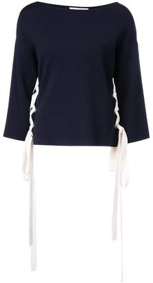 Oscar de la Renta side lace-up jumper