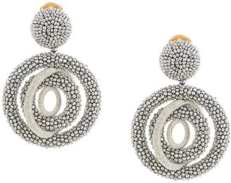 Oscar de la Renta beaded ring earrings