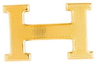 Hermes Guilloche H Belt Buckle