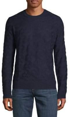 Saks Fifth Avenue Textured Crewneck Sweater