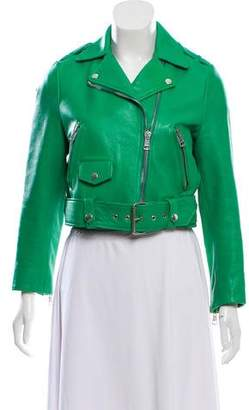 Acne Studios Cropped Leather Jacket