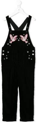 Stella McCartney embroidered velvet dungarees