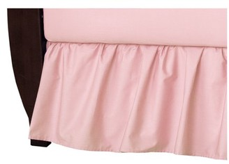 American Baby Company Ruffled Crib Skirt,Blush