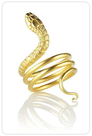 Katrina LaPenne Cleopatra Snake Ring in Gold