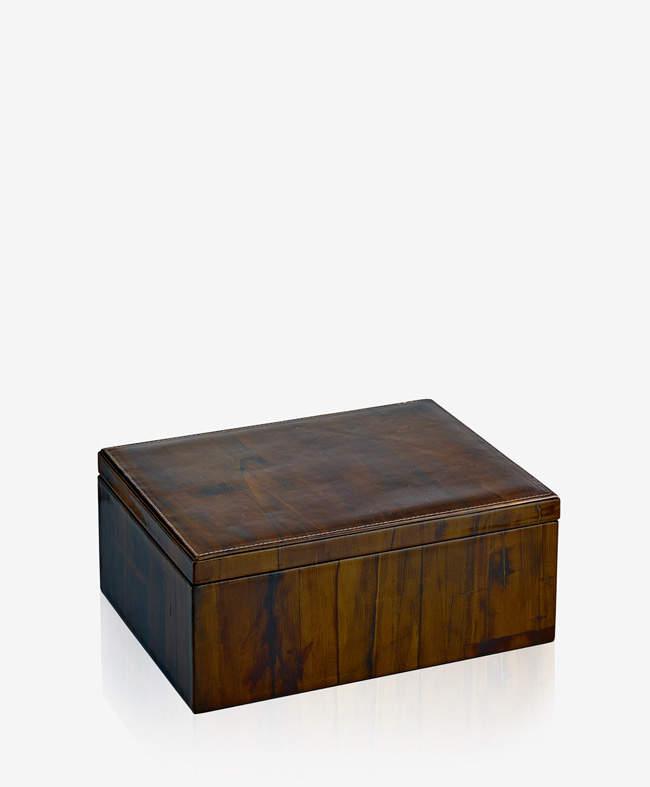 Large Box Sandalwood Leather