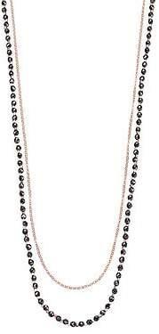 Astley Clarke Women's Biography Hematite & White Sapphire Sun Beaded Necklace