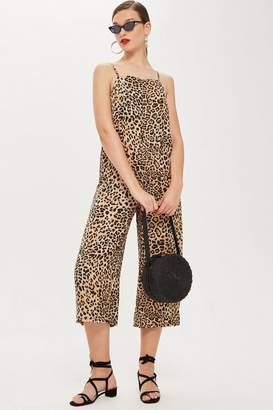 Topshop Leopard Print Jumpsuit