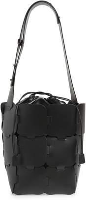 Paco Rabanne Element Medium Leather Hobo Bag