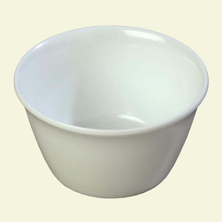 Carlisle 8 oz. 3.84 in. Diameter White Melamine Bouillon Cup (Case of 24)