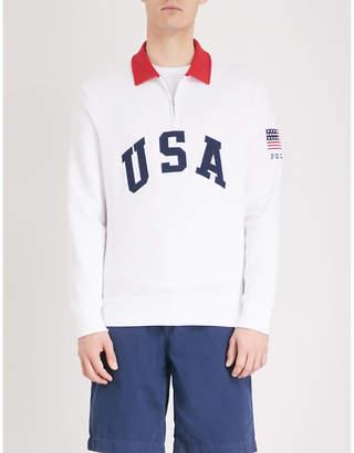 Polo Ralph Lauren Embroidered cotton-blend sweatshirt
