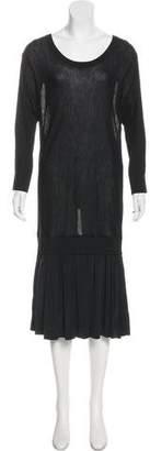 DKNY Knit Silk Dress