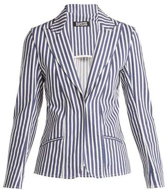 0d498ce1bb4 Rockins - Single Breasted Denim Blazer - Womens - Blue Stripe