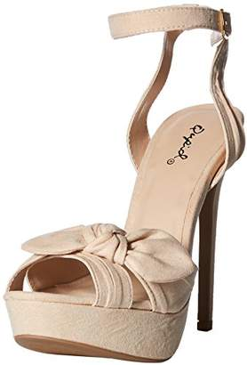 Qupid Women's Platform Heeled Sandal