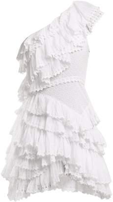 Isabel Marant Zeller one-shoulder broderie-anglaise cotton dress